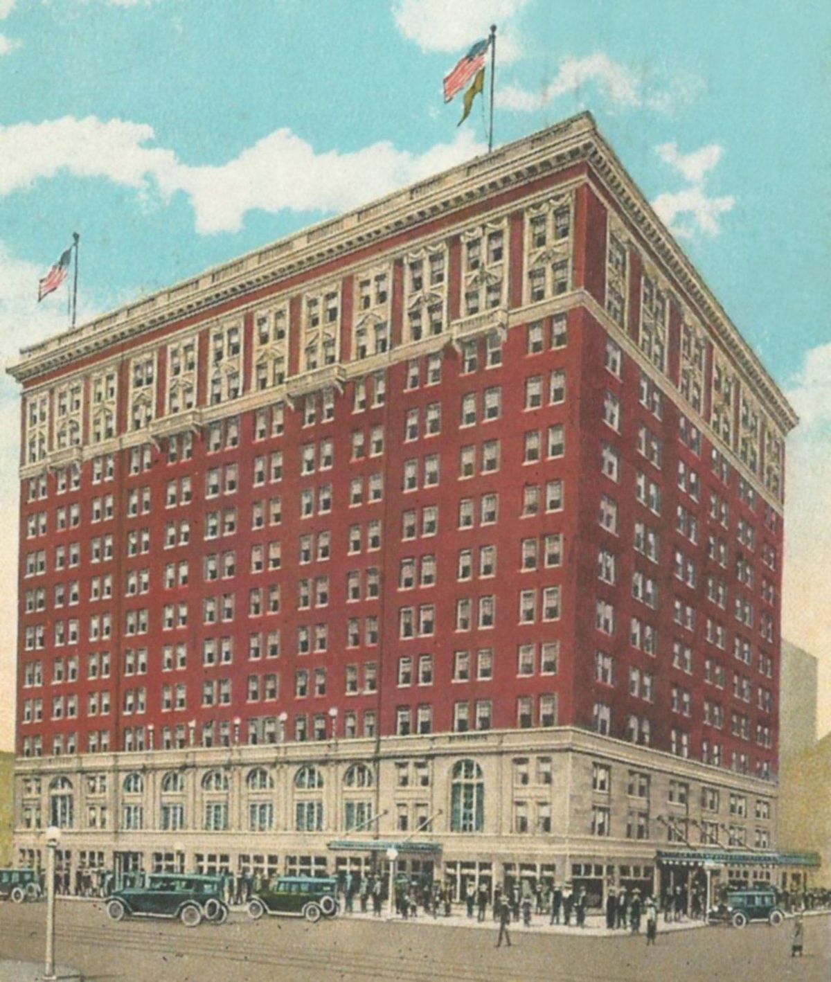 Courtesy of James E. Casto, a postcard from the opening of the hotel in 1926.