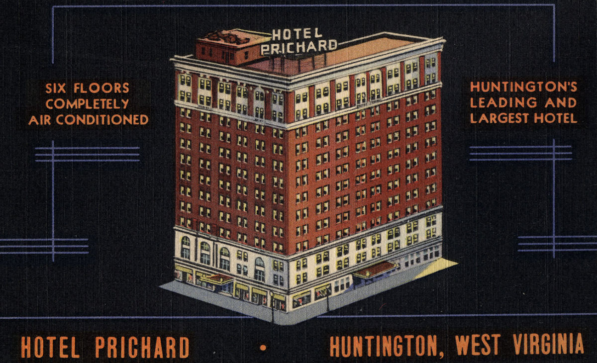 A postcard for the Hotel Prichard.