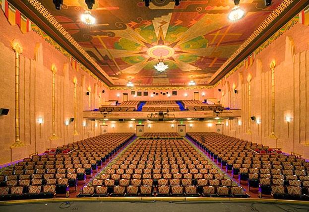 Interior of restored theater. Original seating was refurbished.