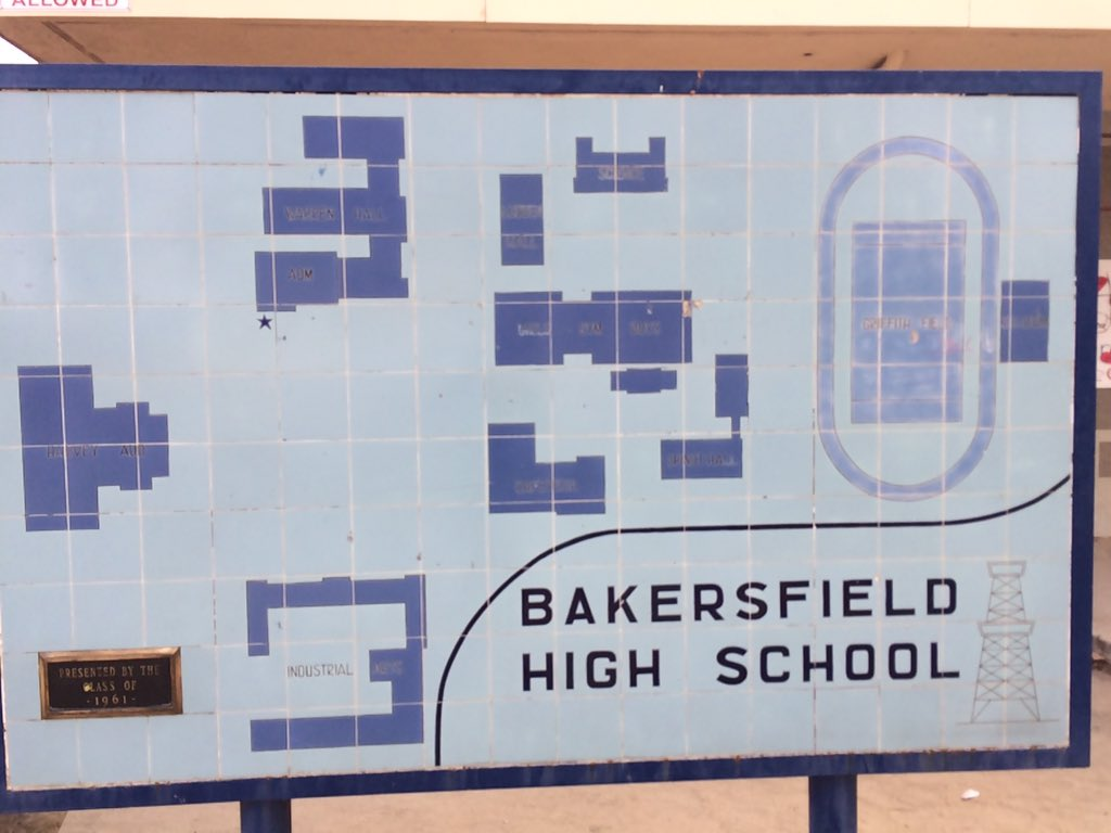 Bakersfield High School Map.