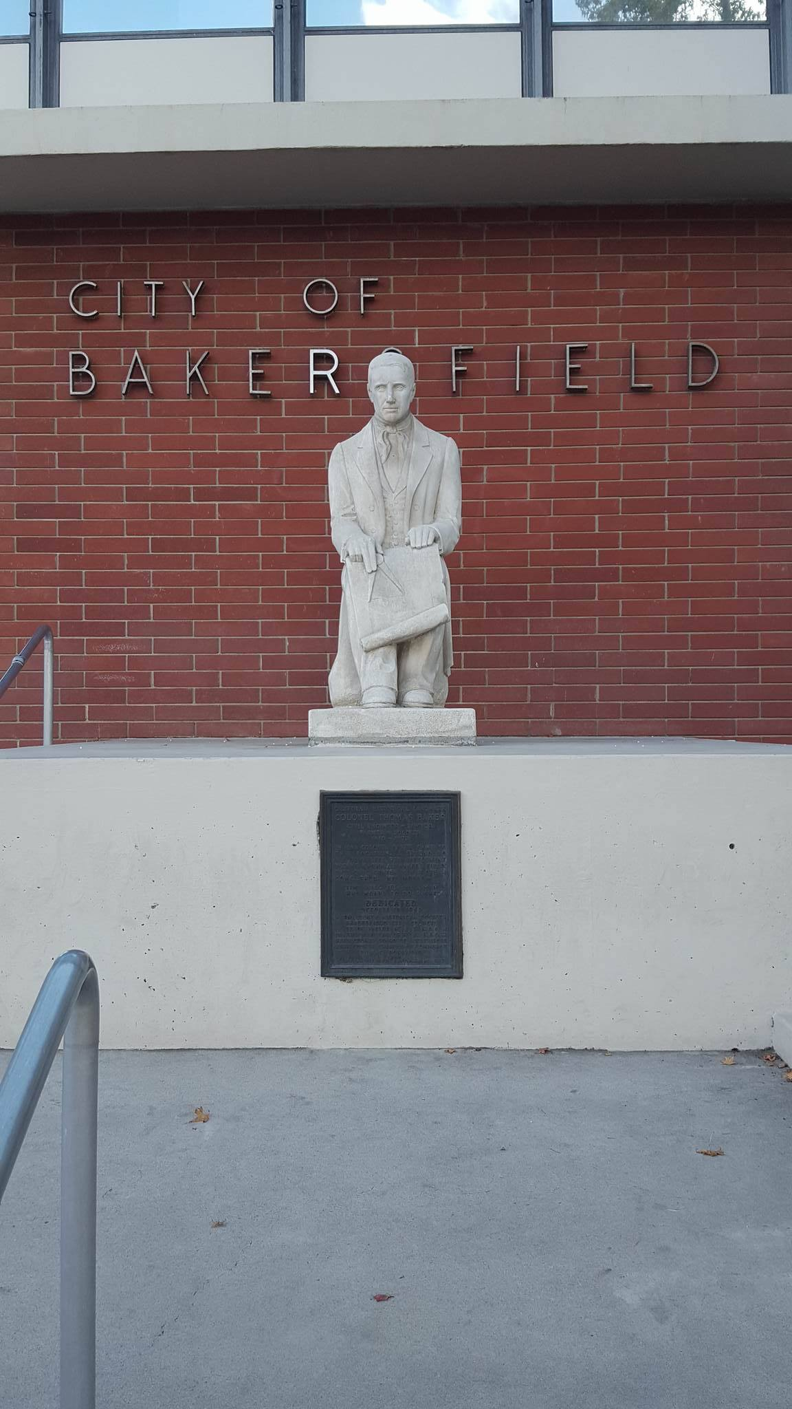 Colonel Thomas Baker Statue (view from Truxtun Ave.)