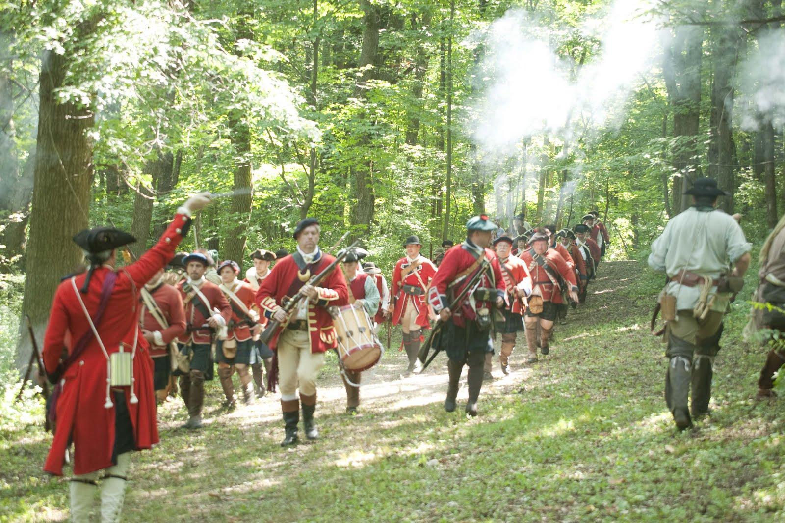 Reenactment of the battle.
