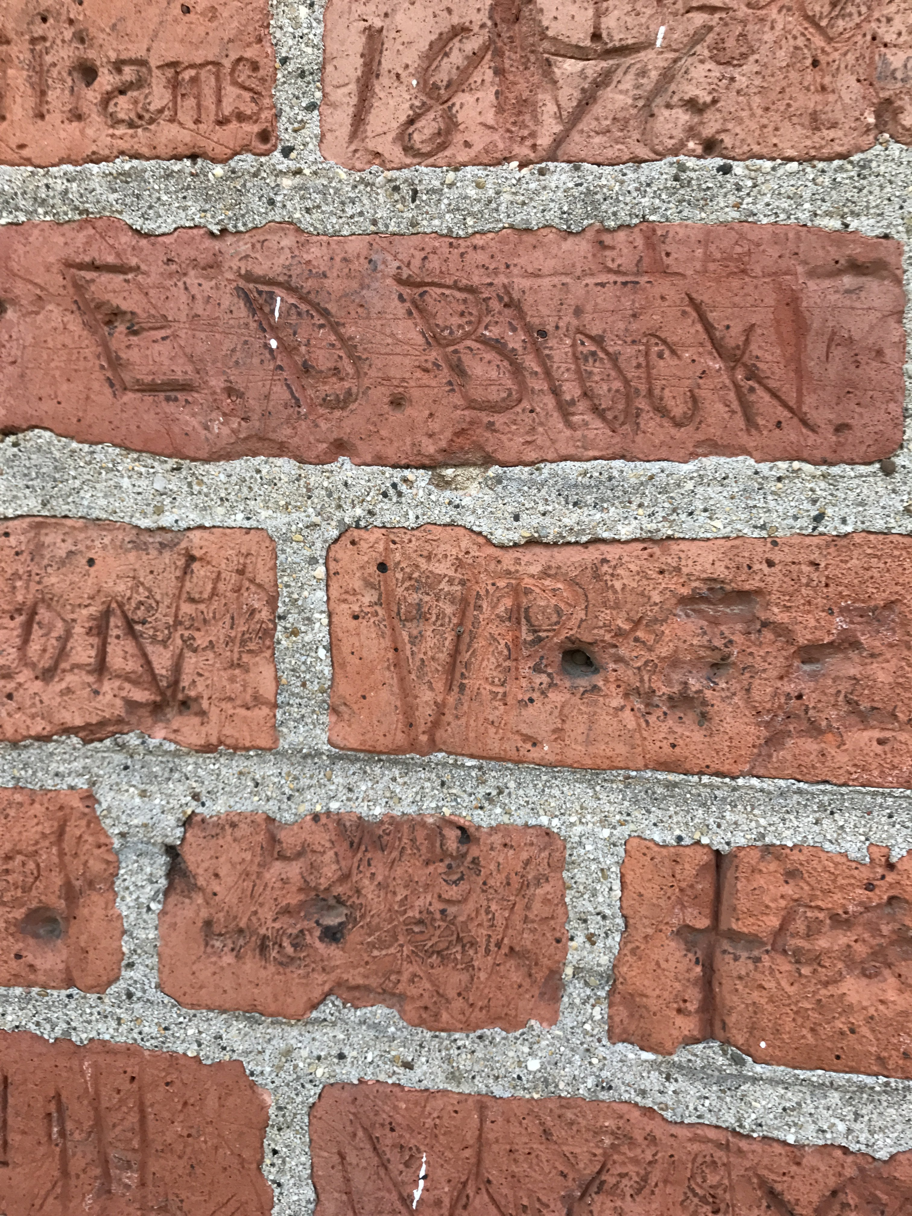 Personalized bricks of Sturtevant Hall.