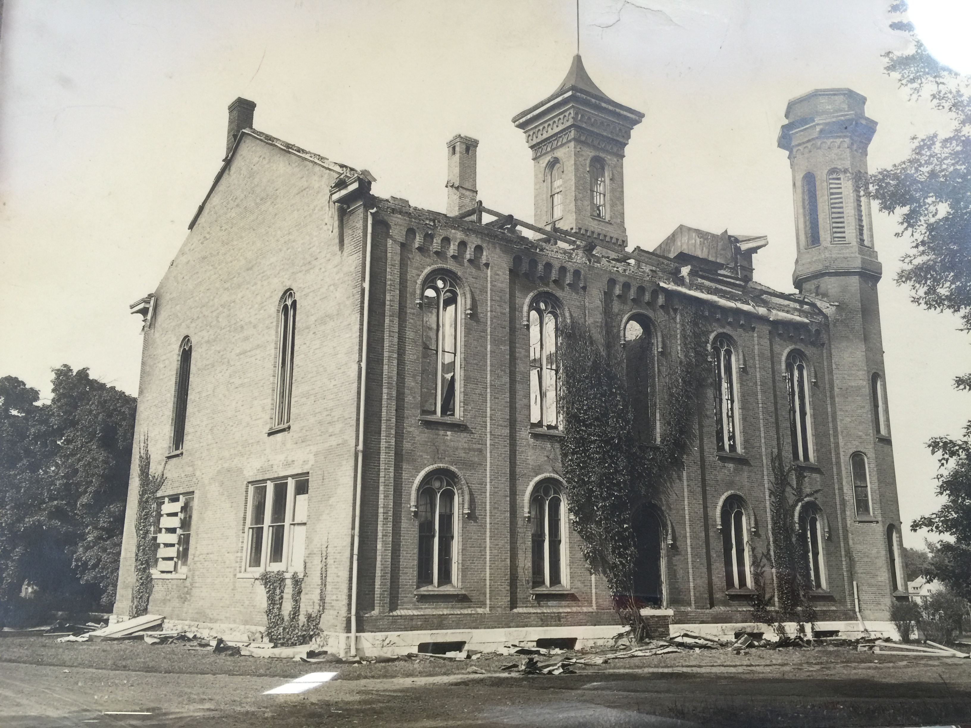 Sturtevant Hall after the fire