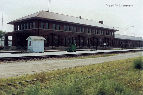 The depot as seen from the railroad