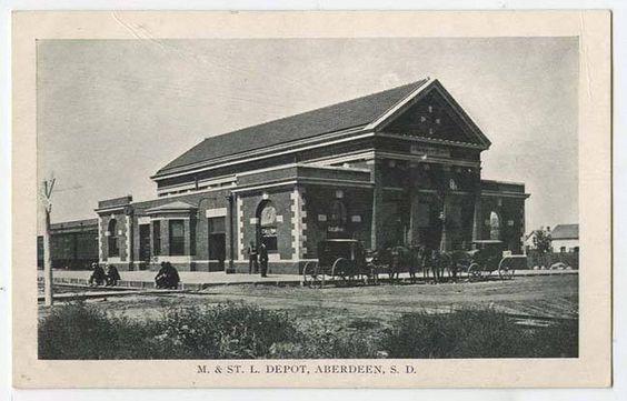 Circa 1920s postcard photo of the depot