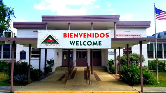 This cultural center is located in a former school that served the mostly Mexican-American population in the heart of San Marcos.