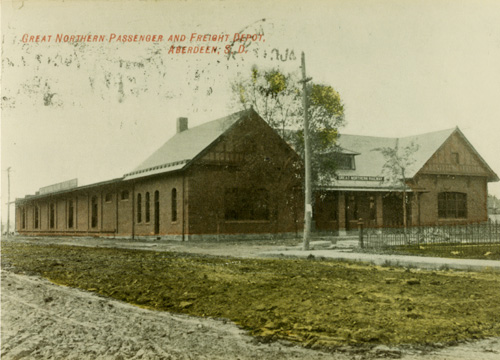 1909 photo of the depot