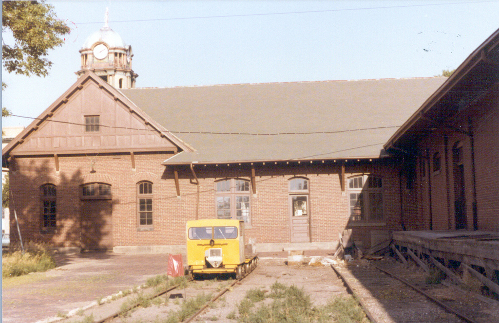Taken in sometime in the 1970s or 1980s, this was the state of the depot before it became home of the law office.