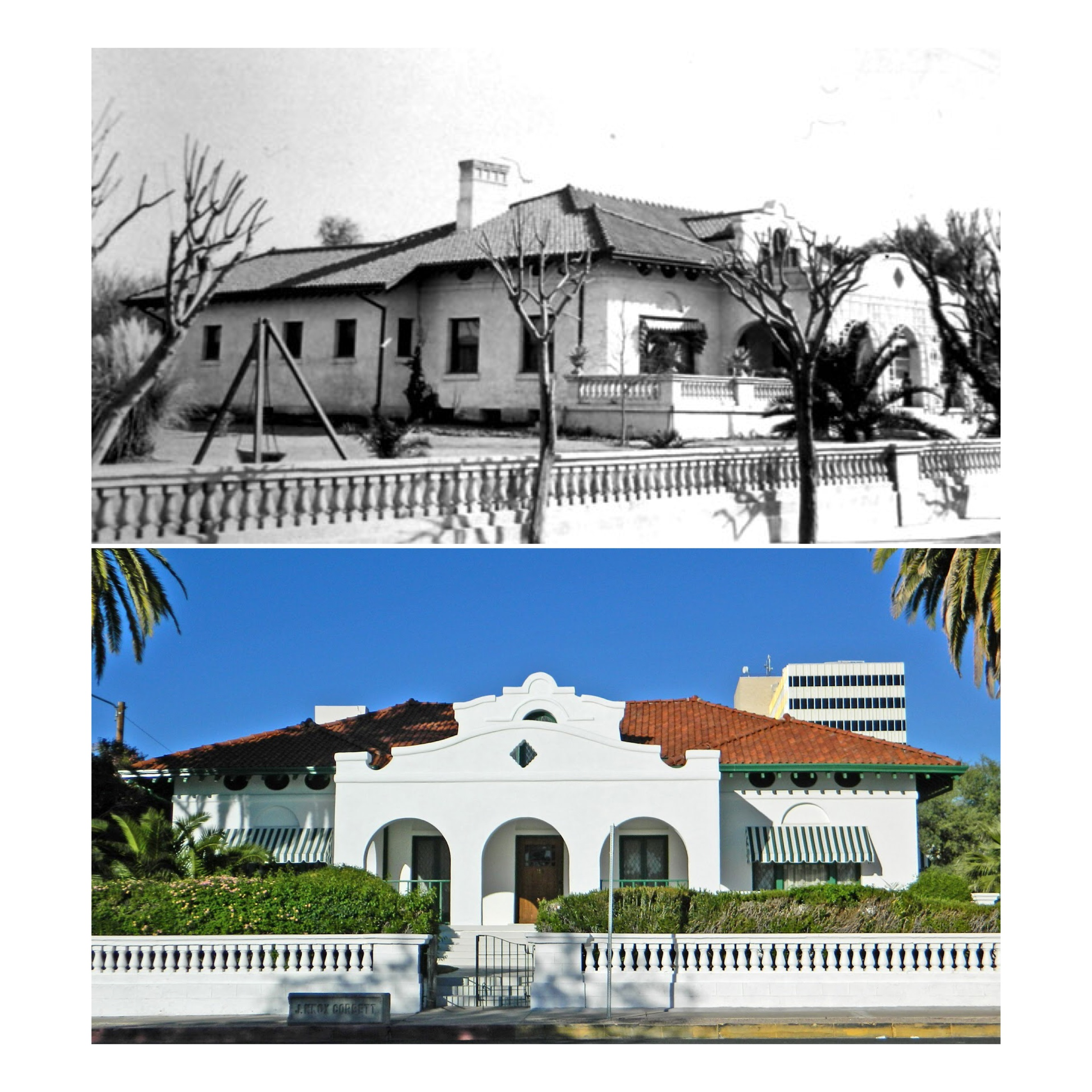 Then and Now. The J. Knox Corbett House in the Historic Block. Tours available through the museum.