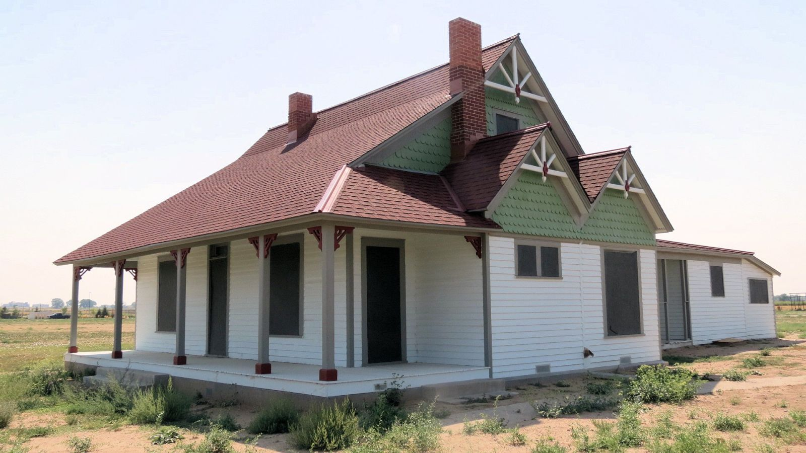 One of the buildings at the farm, which is being renovated and updated to become a museum in 2017.