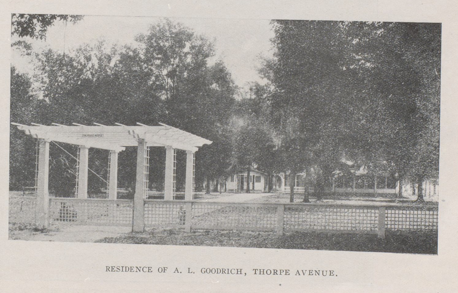 Residence of A.L. Goodrich North Thorpe Avenue