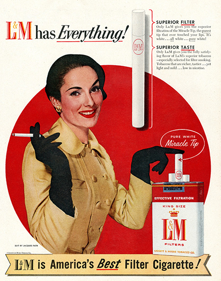An advertisement for Liggett & Myers.