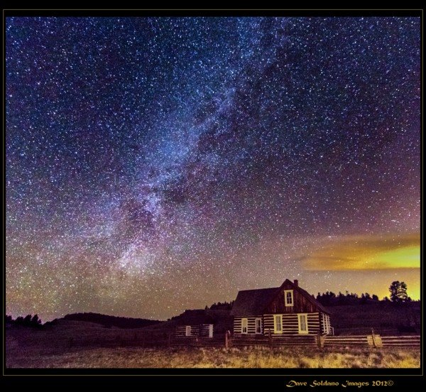 Hornbeck Homestead under the Milky Way