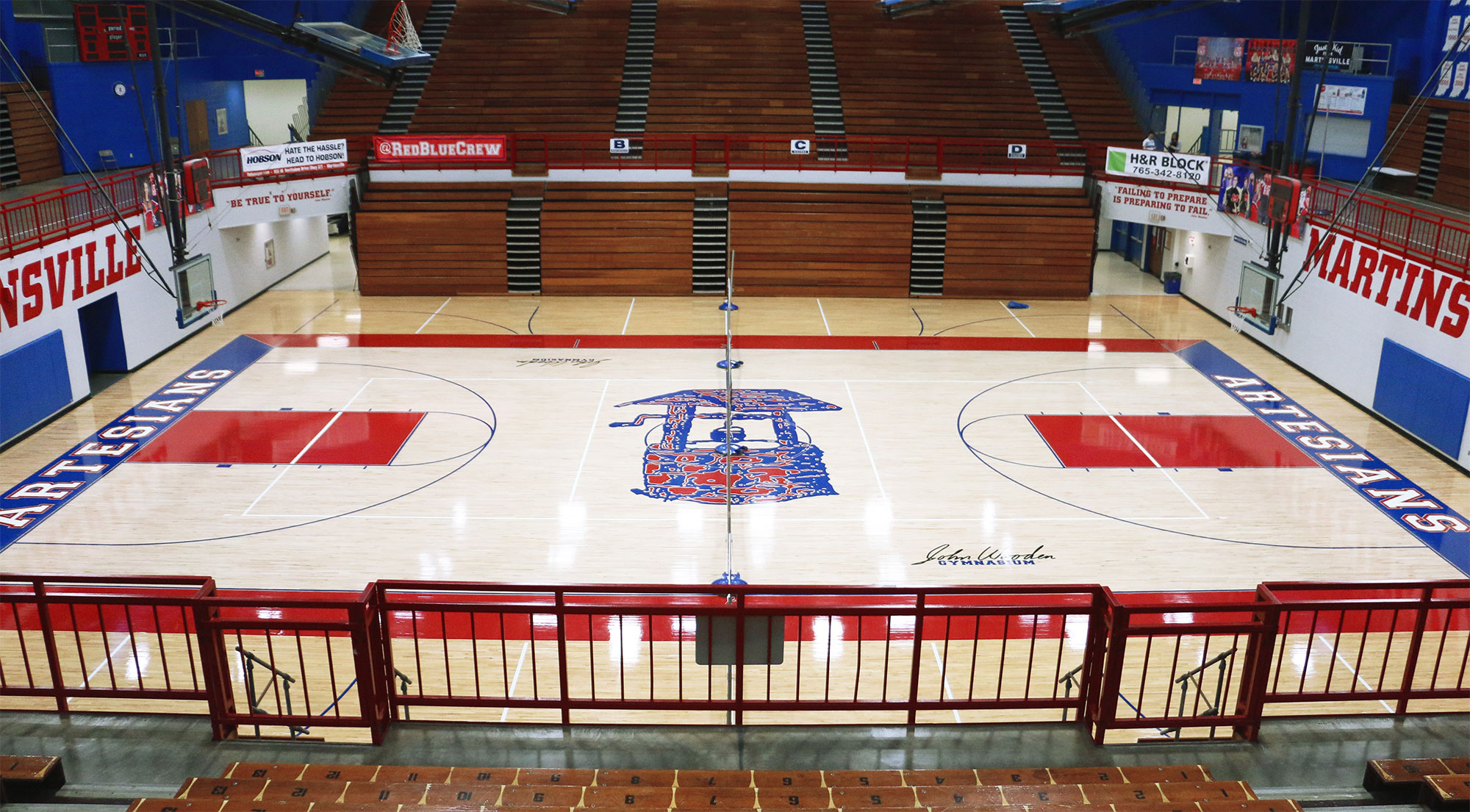 Martinsville High School Basketball Court