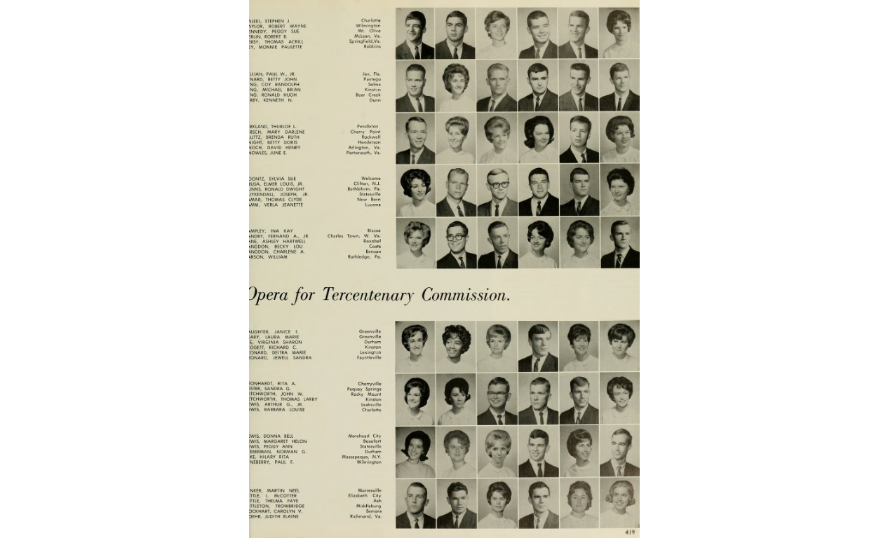 Leary's 1964 Buccaneer yearbook