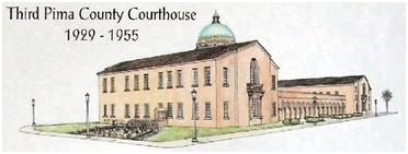 The 3rd/1929 courthouse before the large 1955 addition to the south side of the building.