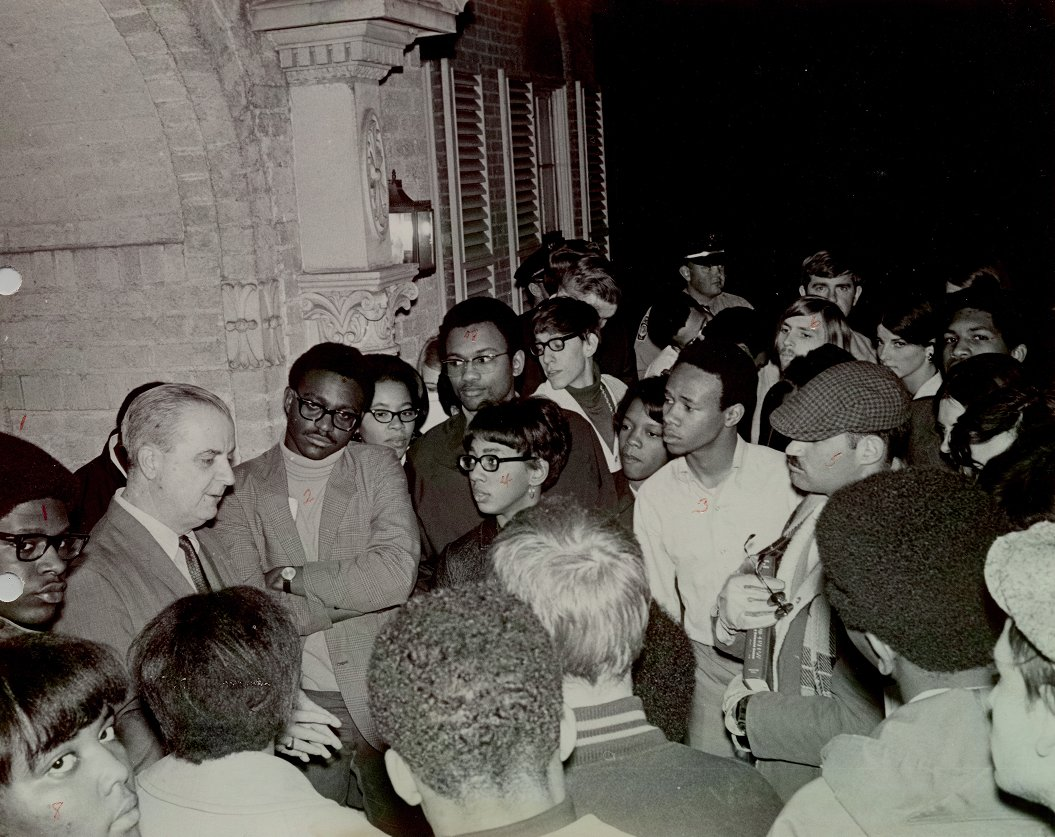 Leo Jenkins Meeting with Student Protestors (1969)