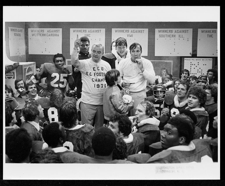 Leo Jenkins with Football Team (1976 Championship)