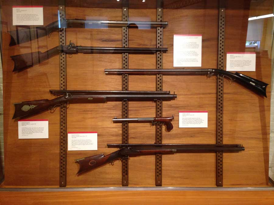 Guns, what Robbins and Lawrence were known for, on display.