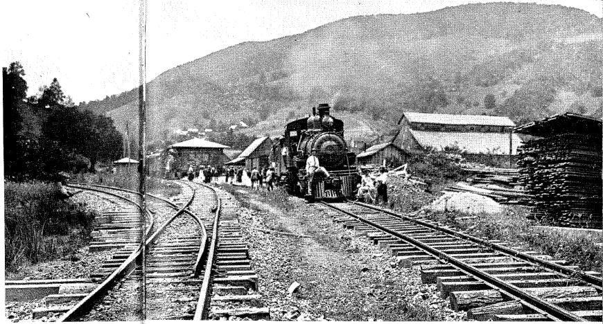 Undated Photograph of the Railroad and Railway Depot in Boone, NC