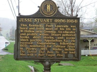 Jesse Stuart Historical Marker (Up Close)