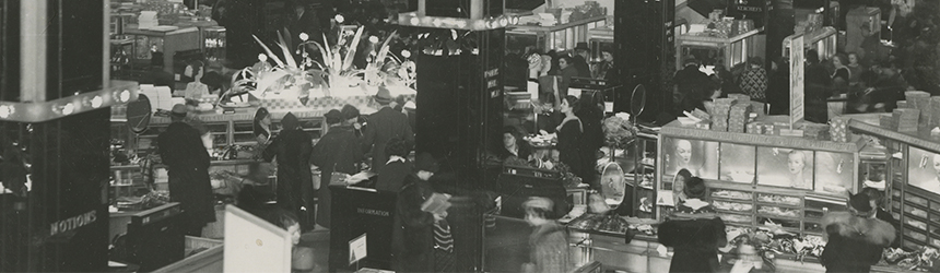 Inside of Kaufmann's in Downtown Pittsburgh (circa 1950s-1960s)
