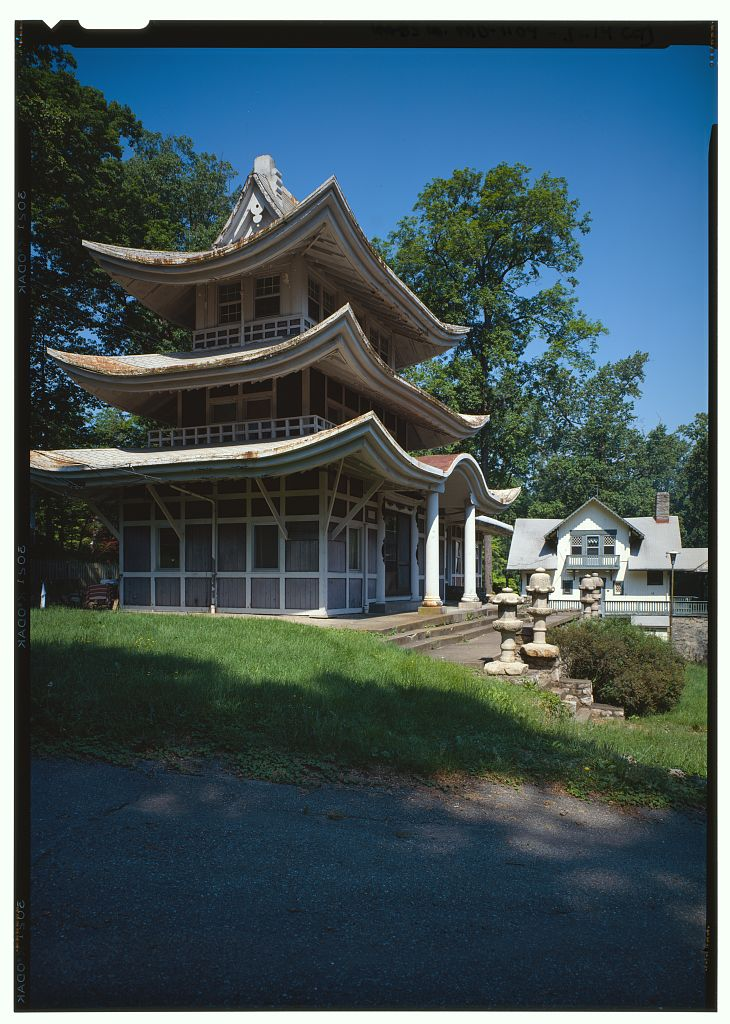 Pagoda at National Park Seminaryna, HABS, Library of Congress (public domain)