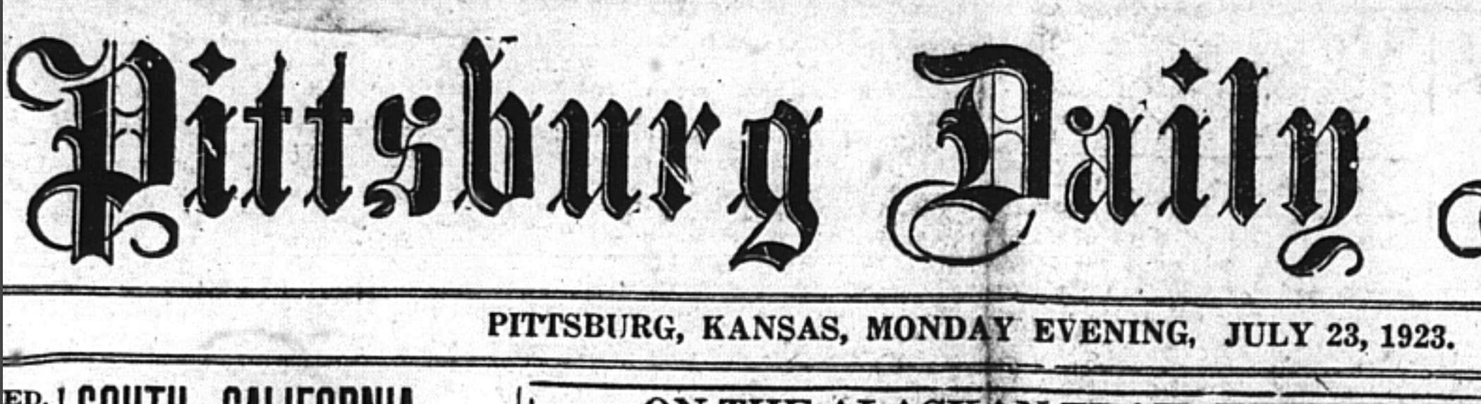 A newspaper of the time that reported the activity of the Klan and Davis' stance on hoods.
