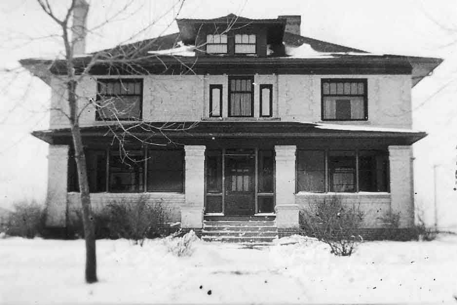 Old photo of the McCarty & Fickel Family Home