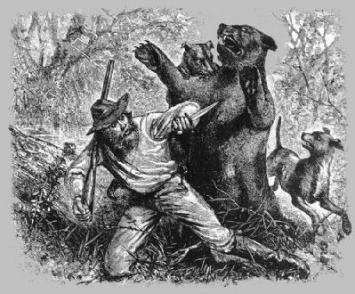 Mountain Charlie's Bear Fight (image from Historical Marker Database)