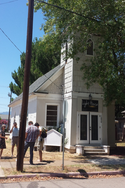 This church building, built in 1894, was originally home to the African Episcopal Methodist Zion Church (AME Zion), and it is the oldest house of worship in Redding. Currently, it is the home of The Light House Ministry.