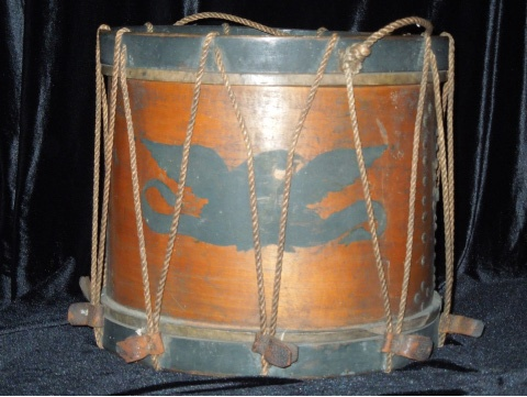 A Civil War era drum on display at the Lowrie House.