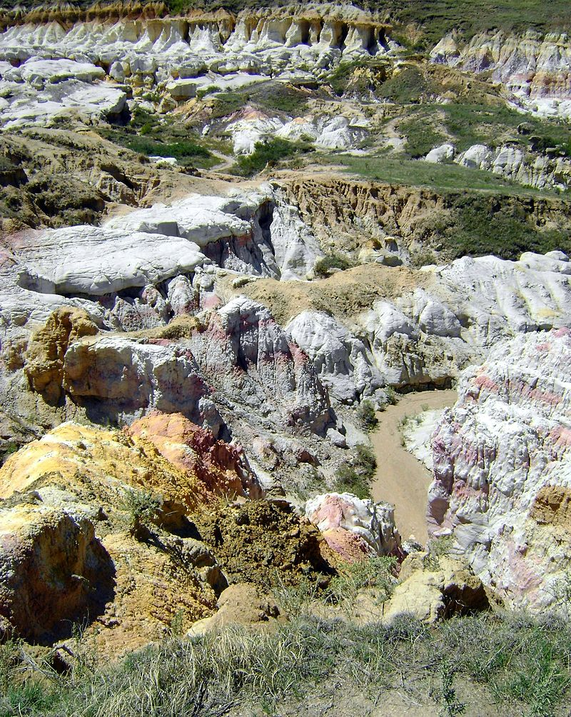 View of some of the geological formations at the park