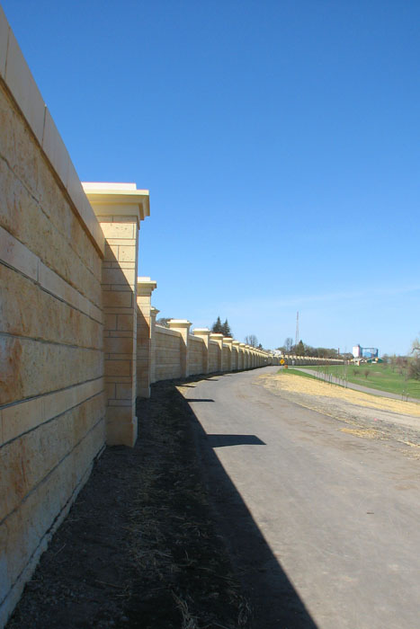 Floodwall north of downtown Grand Forks