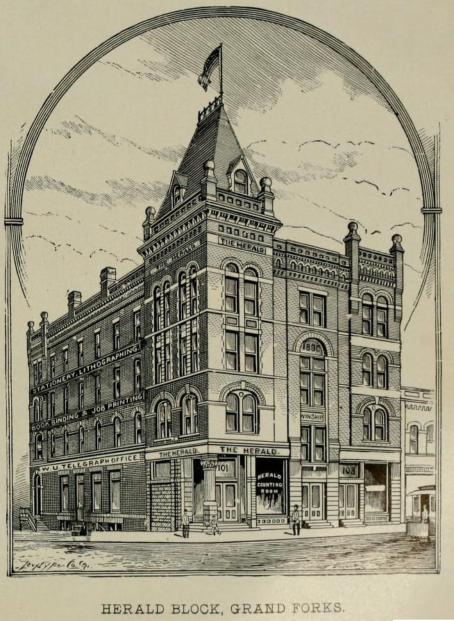 1900 sketch of the Herald building.