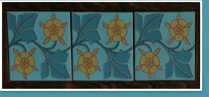 Tiles depicting flowers