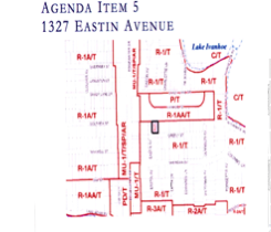 In 2005, Bess Taylor, owner of the Eastin House, submitted to the Municipal Planning Board a zoning map, Agenda Item 5, for historic consideration to be approved as a Historic Site.
