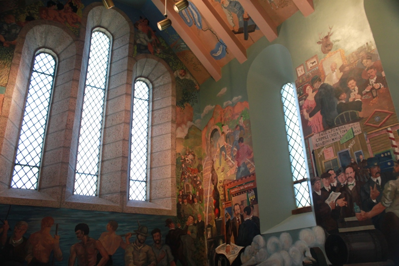 Some of the murals painted by Randall Davey