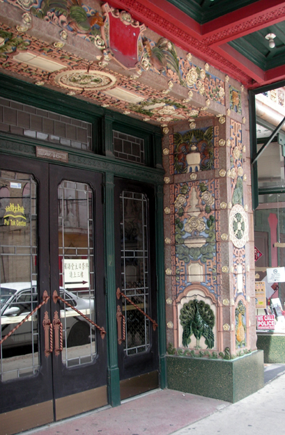 Tile work around the entrance