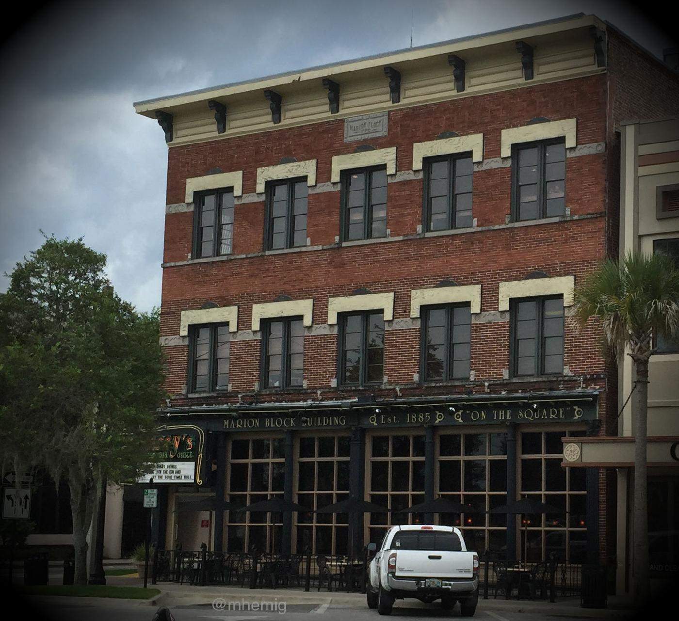"Formerly known as the Marion Opera House, this building housed the meeting in which the ""Ocala Demands"" were made.  This building is now know as the Marion Block House."