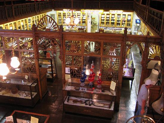 The museum includes a well-preserved drug store-complete with artifacts from the turn-of-the-century.