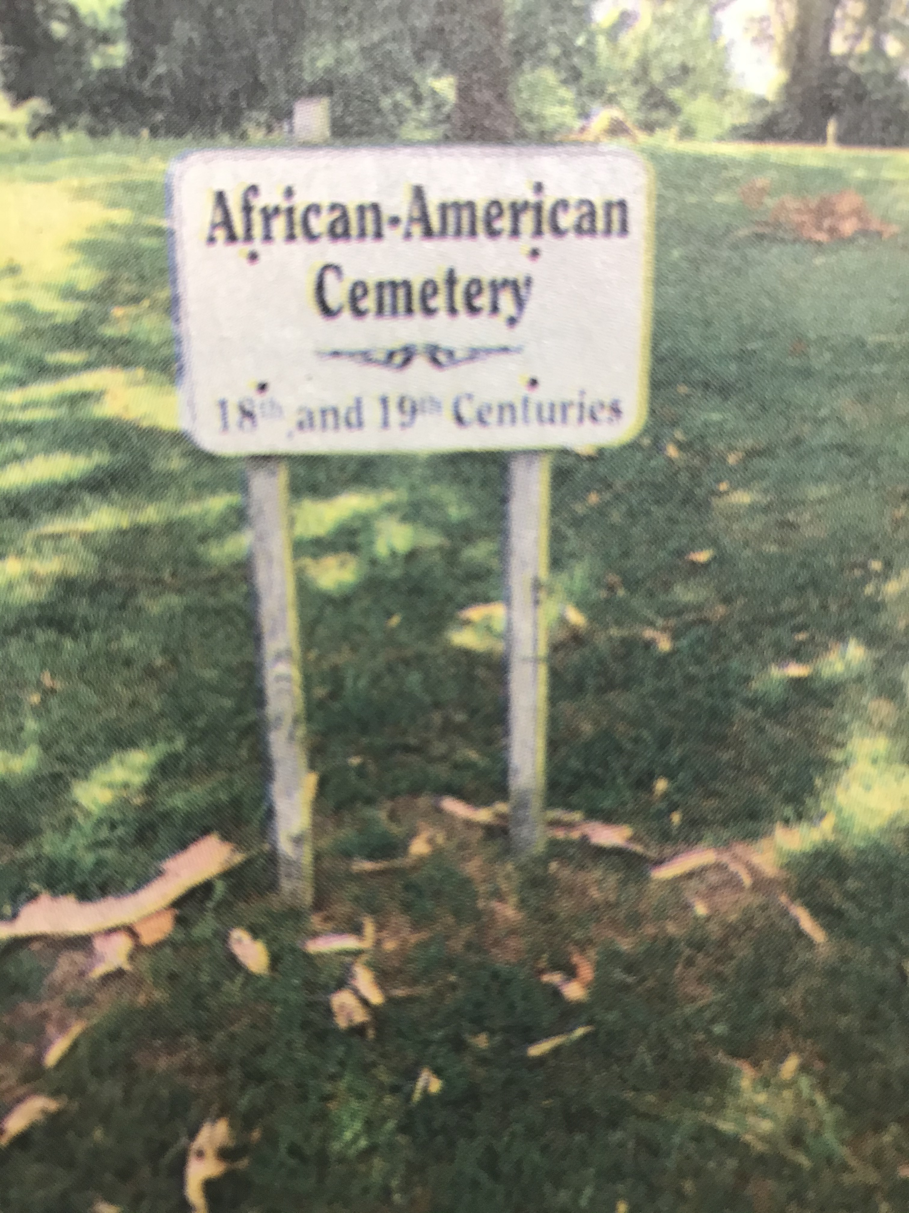 Sign at the African American Cemetery on Martin Luther King Jr., Avenue