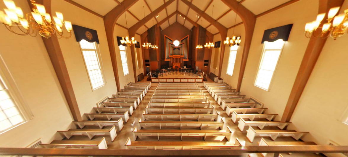 Inside view of the Chapel from the upper balcony.