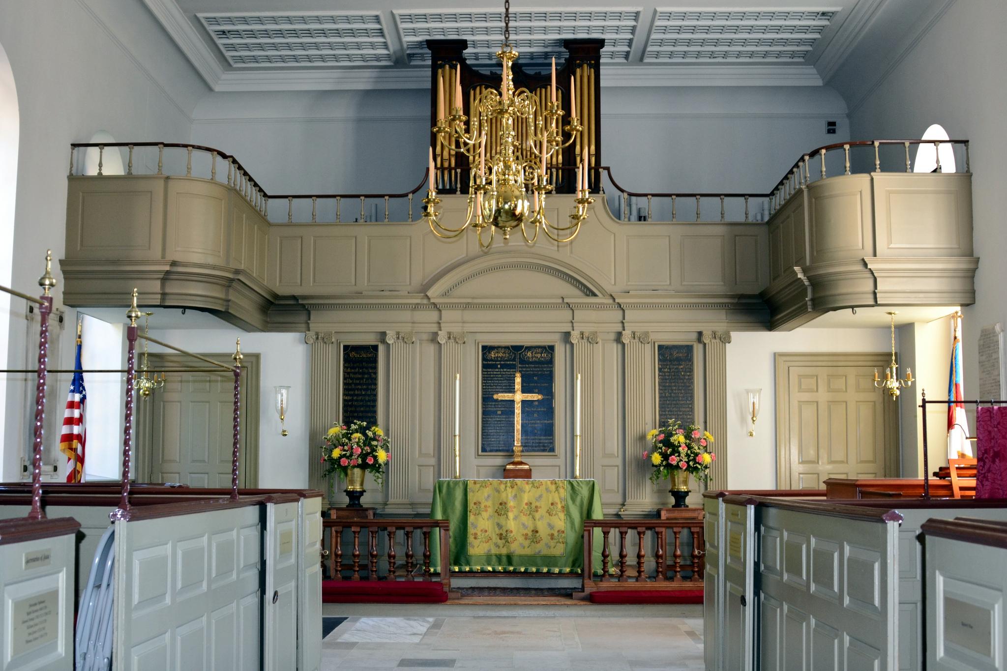 Bruton Parish Church interior. Image by Tony Alter, via Flickr 2.0 Creative Commons