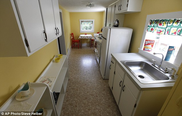 Patsy Cline Historic House kitchen renovated to when she lived there.http://www.dailymail.co.uk/news/article-2020149/Patsy-Cline-fans-Crazy-house-Fifties-singing-star-lived-gets-100-000-revamp.html