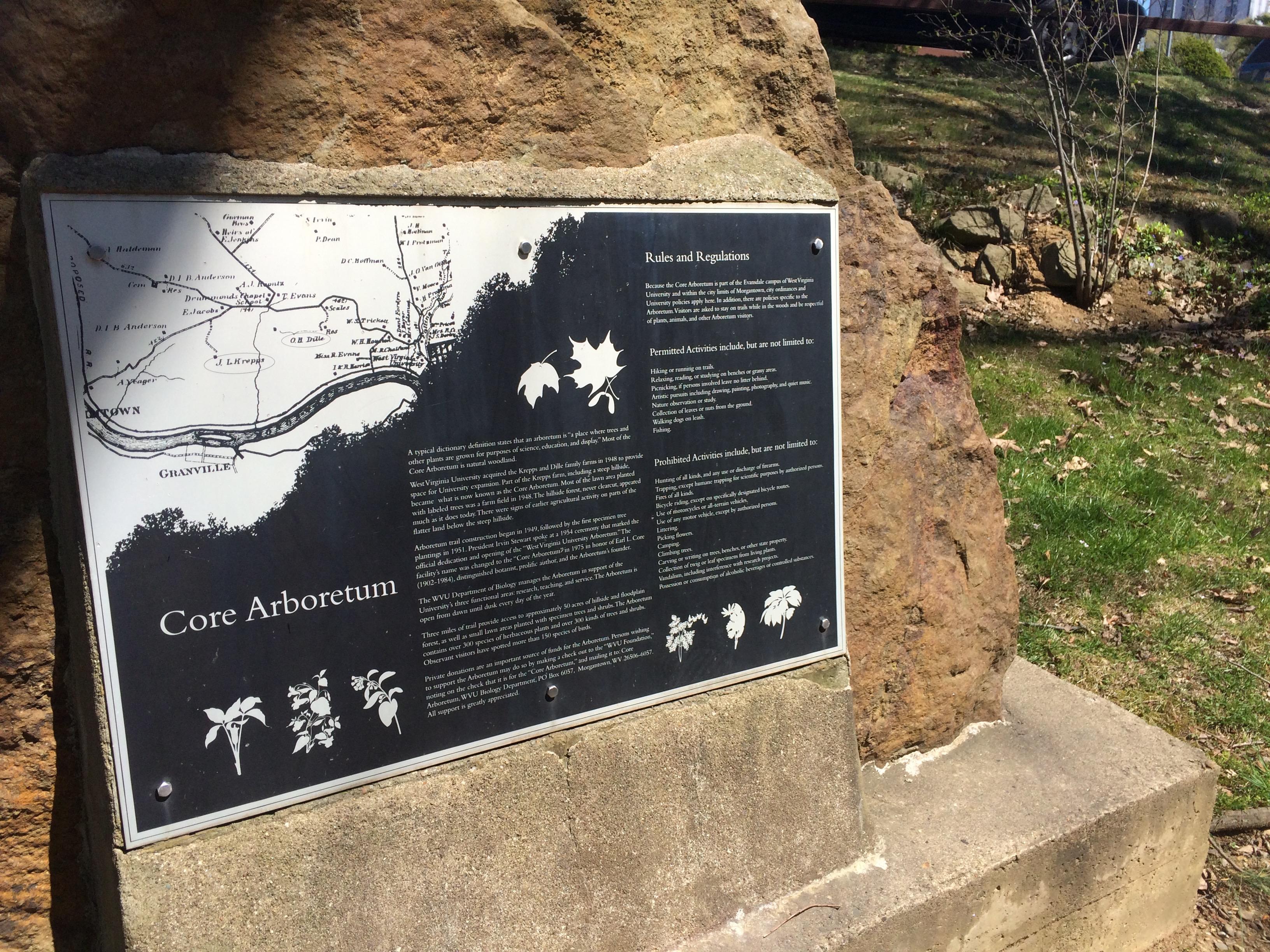 Arboretum plaque