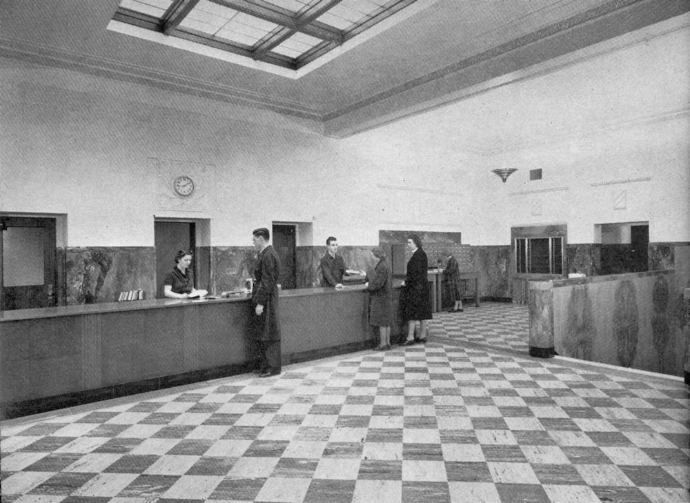 Circulation desk 1940