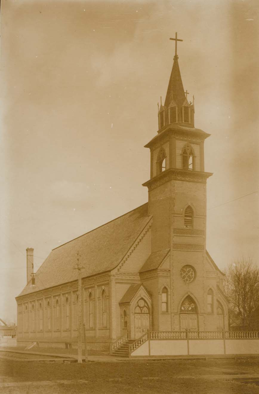 The 1883 St. Michael's church before it's demise in the 1887 storm