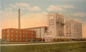 Reportedly 1915 colored postcard of the Mill